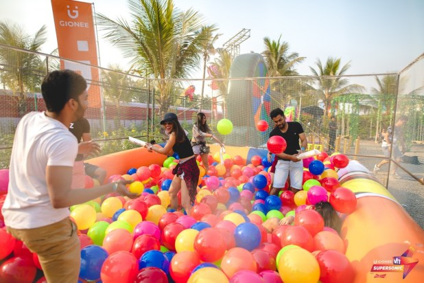 Supersonic offered a quick visit back to childhood with ballpits, swings and more. Photo: Courtesy of VH1 Supersonic