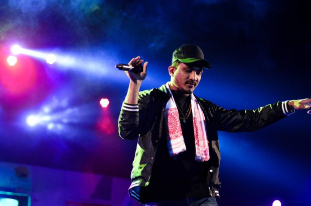 Divine set the groove for the night with his Gully Gang hits at Day 1 of Rongali Festival. Photol: Courtesy of the artist