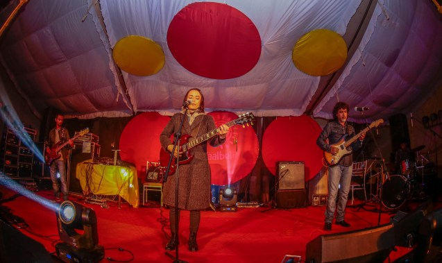 Soulmate performing at the makeshift stage on day one. Photo: Courtesy of Taalbelia Festival