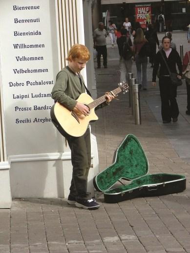 Ed Sheeran busking in Galway, Ireland, in 2005, age 14. Photo: John Sheeran