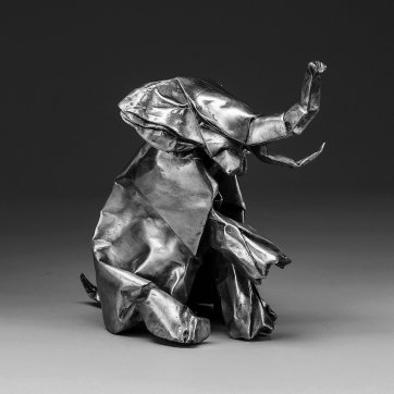 Patton finished 'Black Origami' on one of her trips to India.