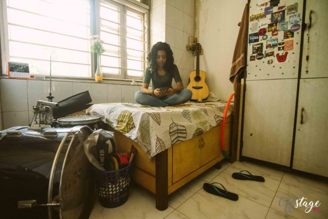 24-year-old Rebello writes and sings her own lyrics, plays guitar and is a drummer too. Photo: Swaraj Sriwastav
