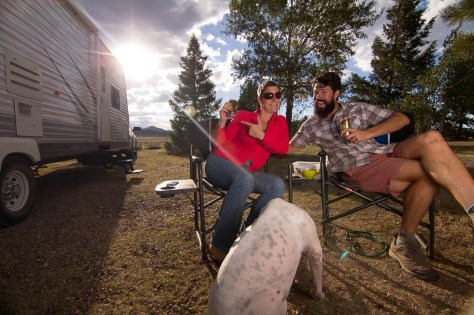 Happy Hour at San luis valley campground colorado