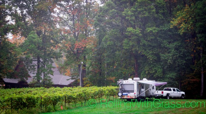 Sanders Ridge Vineyards Rolling With Grass Truck and Trailer