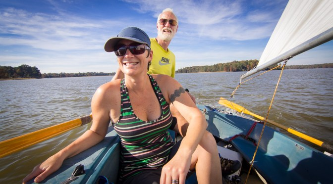 Sailing with Grass: on the Chickahominy