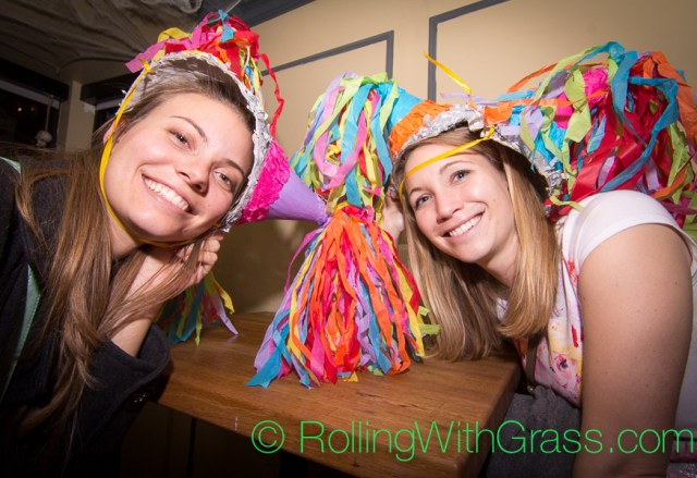 PInata ladies at Fainting Goat Halloween Grass DC 2014