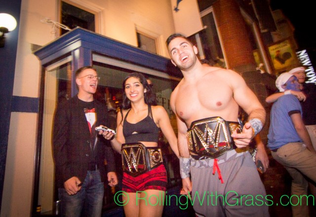 WWF Couple on U Street Halloween Grass DC 2014