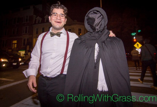 Poindexter and Death on U Street Halloween Grass DC 2014