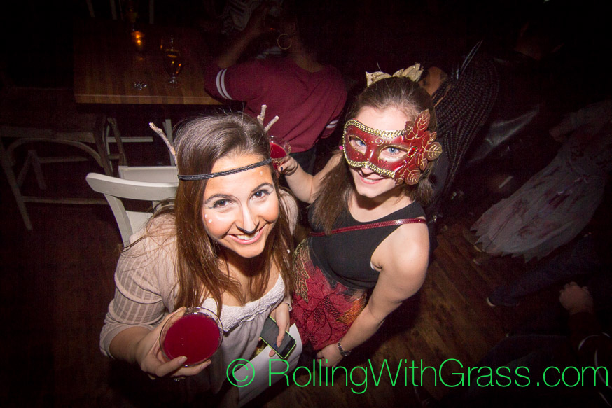 Ladies from above at the Fainting Goat on Halloween Grass DC 2014