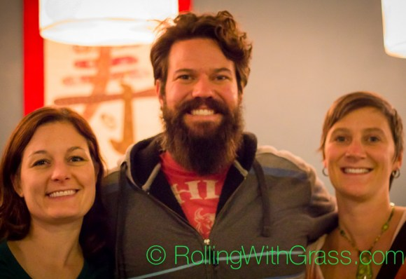 Meredith, Roger, and Kate at Kotobuki vegan sushi norfolk va oct 2014