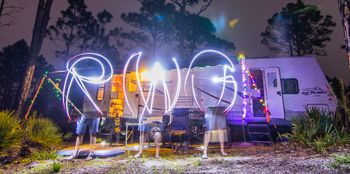 Kate Light Painting RWG at Myakka State Park Florida