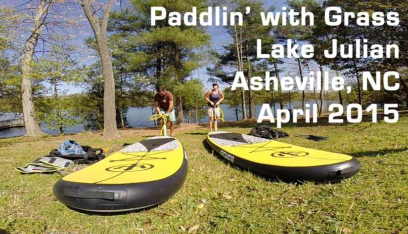 Stand Up Paddle Boarding at Lake Julian Asheville, NC