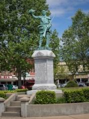 Tribute to David Crockett in Lawrenceburg, TN