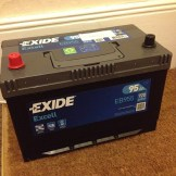Exide Excell EB955 battery for Rolls Royce Wedding Car