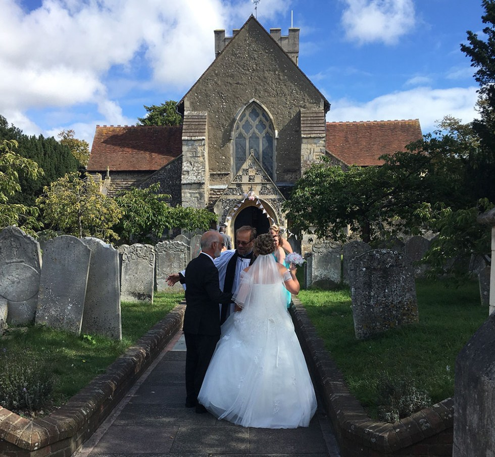 Jennie and Luke at St Mary's, Broadwater
