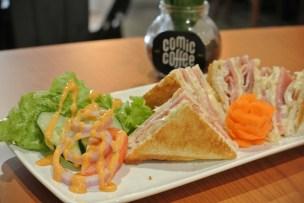 Ham & Pork Bacon Cheese Sandwich - RM9.90