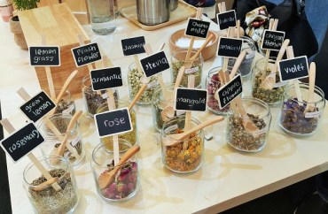 Assorted flower tea