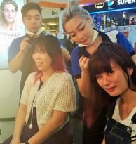 Leona & Rane getting their hairdo