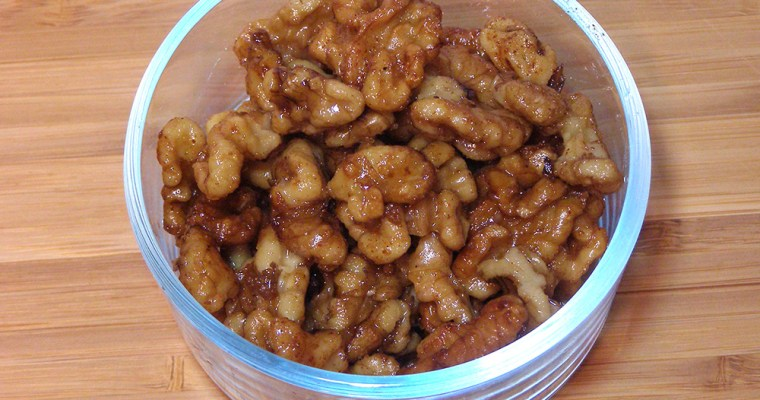Candied Walnuts with A Bit of Spice