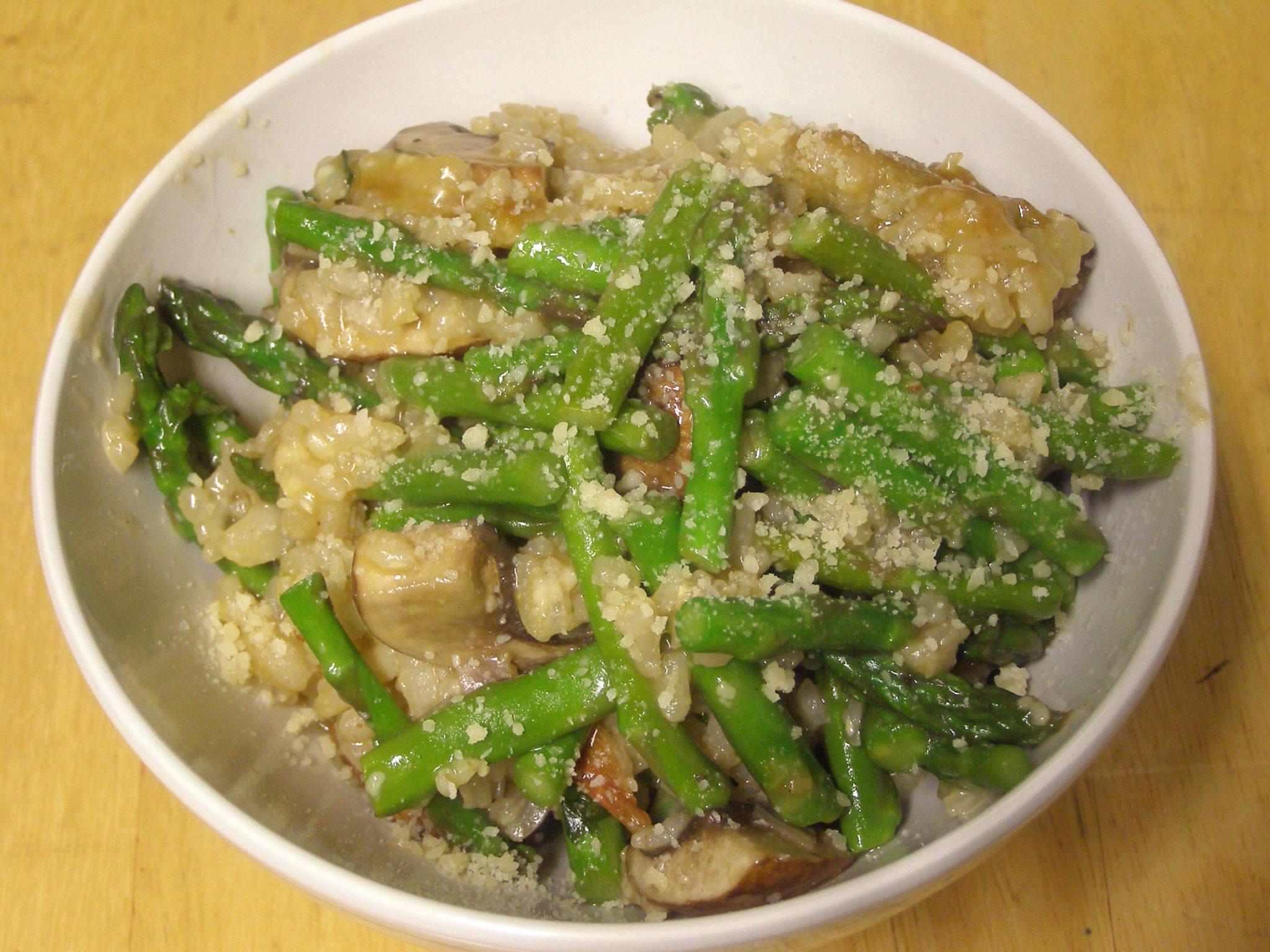 Asparagus-Mushroom Risotto