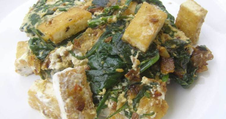 Tofu Saag Paneer For One