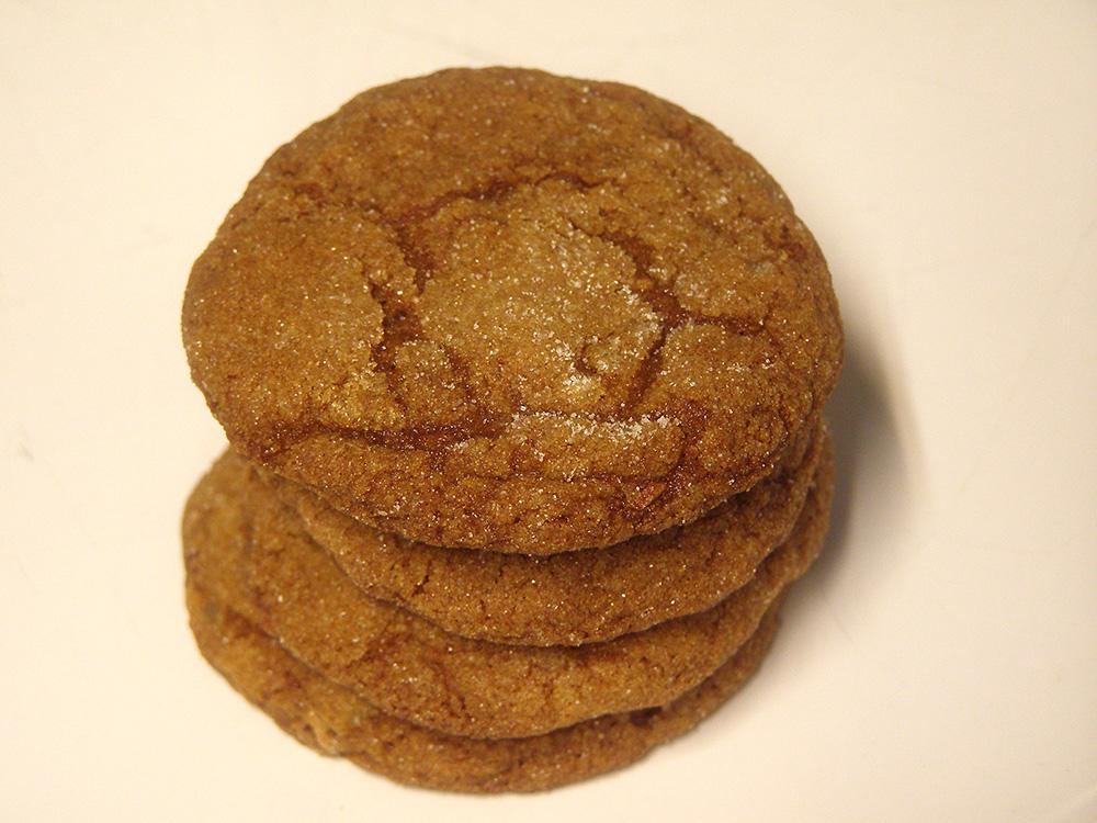 Triple Ginger Crackle Cookies