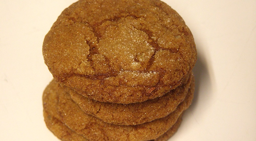 Triple Ginger Crackle Cookies