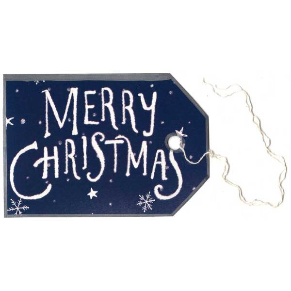 Gift tag made from an old greeting card