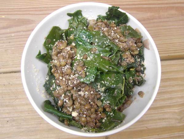 Lentils and Kale