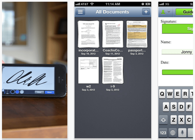 Como firmar documentos en iPhone