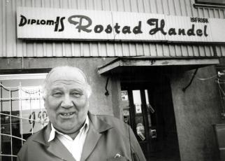 Christian Rostad drev Rostad Handel på Rostadnesset