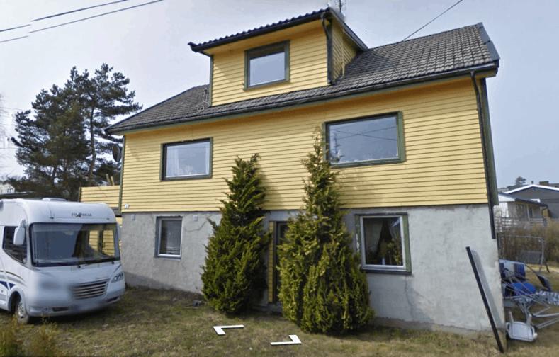 I dette huset i Steinliveien har det vært drevet butikk i mange år. Foto: Google