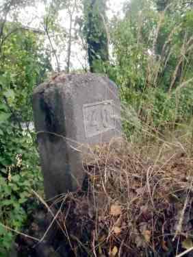 Bilde 33: Denne steinen står i veikanten av Rolvsøyveien på høyre side i nærheten av Solheim, når vi kjører nordover. Steinen er merket 40Foto: Tom Raae