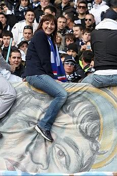 Polverini, la Lazio, la Roma e la sfiga Il tifo sottosopra dopo la visita alle squadre