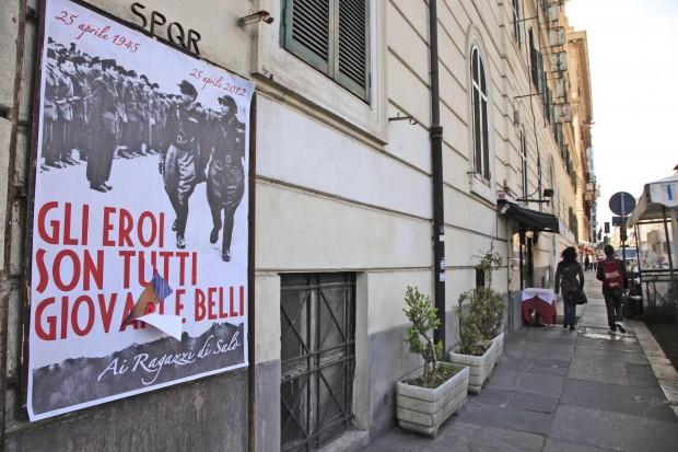 25 aprile, manifesti per Salò i neofascisti copiano Guccini