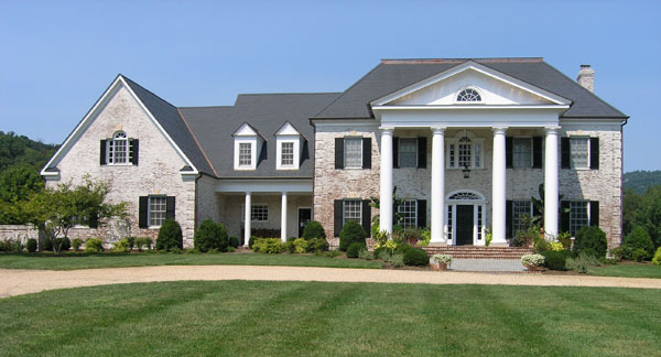 ROMA Limewash was applied to the exterior of this entire Virginia Home
