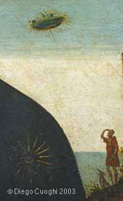 Dettaglio del pastore e della nube luminosa