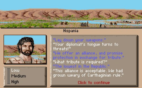 886-centurion-defender-of-rome-dos-screenshot-successful-treaty-with