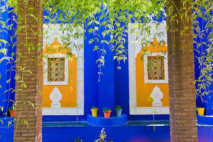 Photo of Majorelle Gardens, aka Gardens of Yves Saint-Laurent, Marrakech (Marrakesh), Morocco, North Africa, Africa