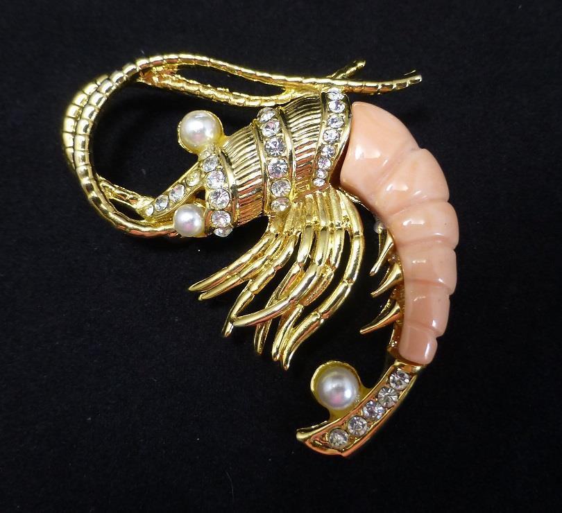 Shrimps Brosche