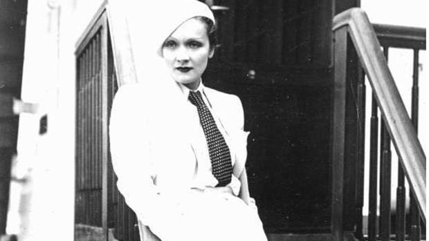 Marlene Dietrich an Bord