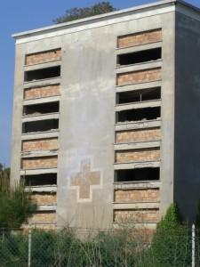 La colonia usata come ospedale militare