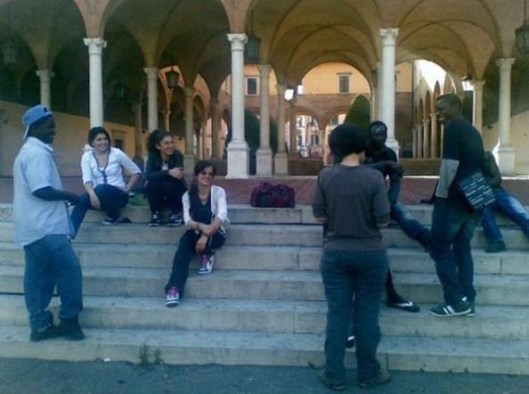Gruppo Giovani e Intercultura al chiostro di San Mercuriale, Forlì