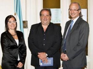 Ana Sarrabayrouse (Agregada Cultural de la Embajada - Roberto Garay - Eduardo Varela (Ministro de Cultura de la Embajada Argentina en Roma)