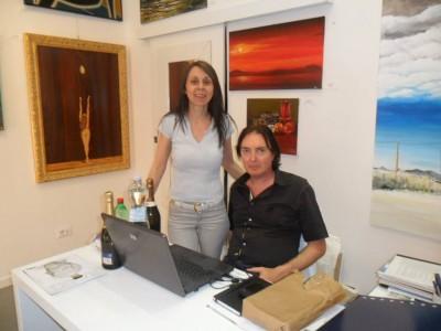 Gran vernissage sabato 5 luglio ore 17 Galleria Farini Bologna via Farini 26/d — con Grazia Galdenzi e Roberto Dudine