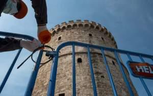 Θεσσαλονίκη: Ξεκινούν τα πρόστιμα παραβίασης του «λουκέτου» στη Νέα Παραλία (φωτογραφίες)
