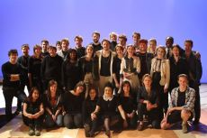 The Twelfth Night Cast and Crew (that's me on the left)