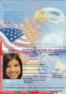 SCAMMER PROFILE: Jessica Edward - Nurse Stranded in Nigeria - jessicaedward14@yahoo.com - Fake Scammer Passport