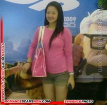 Dating Scammer Melissa Quiazon from Pampanga