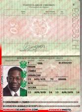 James Kwame - Ghana Passport H1858289